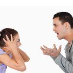 Hispanic couple fighting