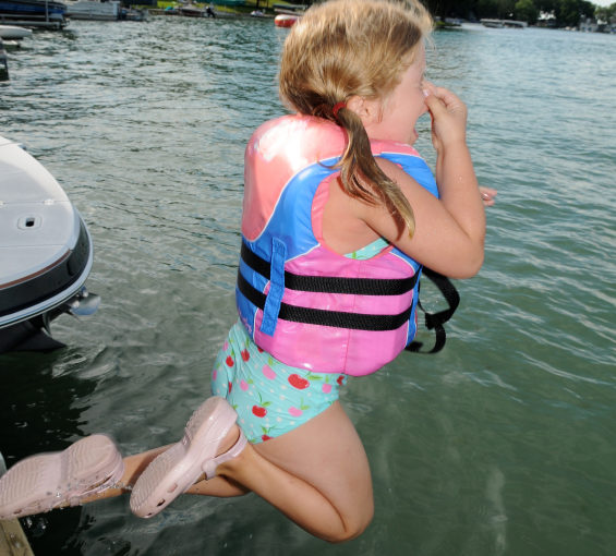 Sometimes being a good parent means pushing your kid off the boat