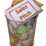 Sales pitch in trash can 4