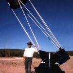 Bob Wooley with telescope