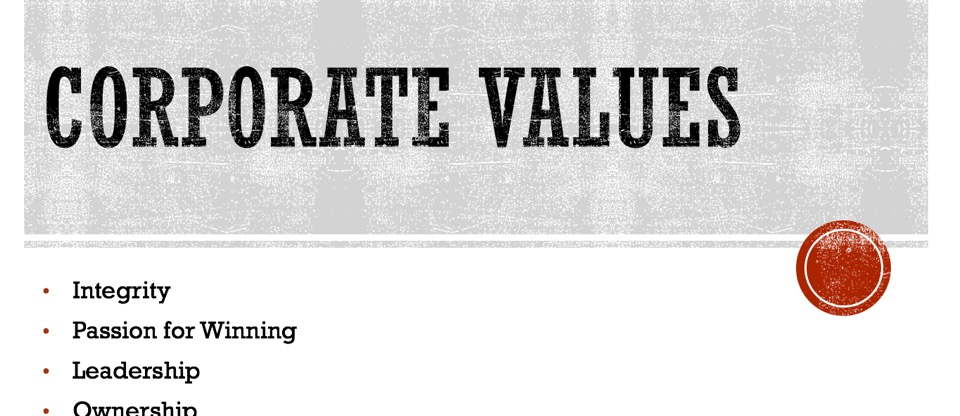 The Most Useless Document at Your Company -- The Corporate Values Statement